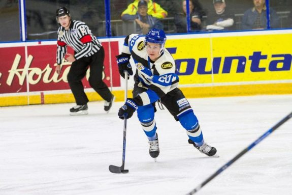 Jonny Tychonick of the Penticton Vees