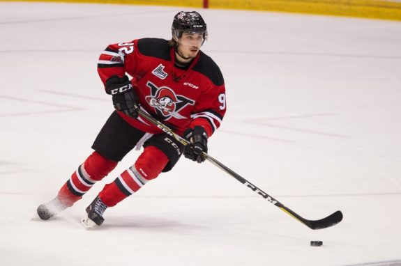 Nicolas Beaudin of the Drummondville Voltigeurs