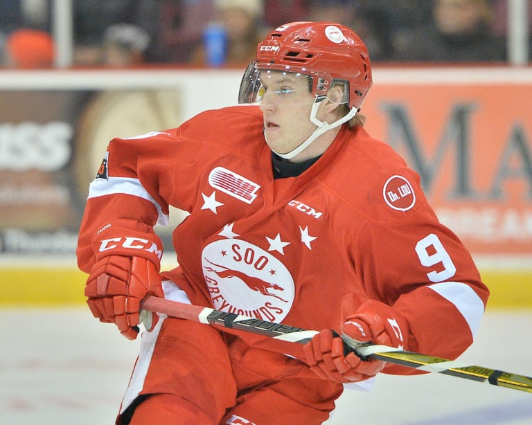Rasmus Sandin, OHL, Sault Ste. Marie Greyhounds