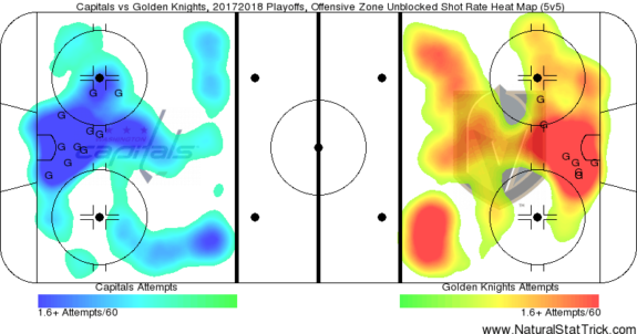 Capitals Golden Knights shot chart
