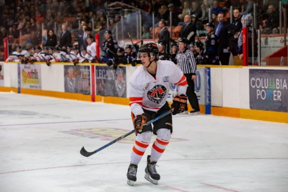 Seth Barton of the Trail Smoke Eaters