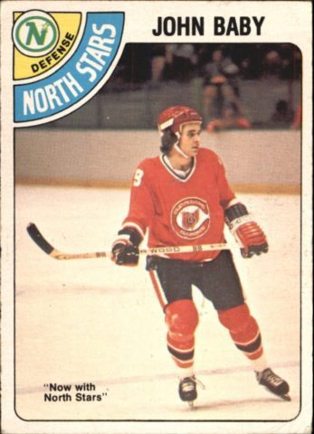 John Baby Cleveland Barons/Minnesota North Stars