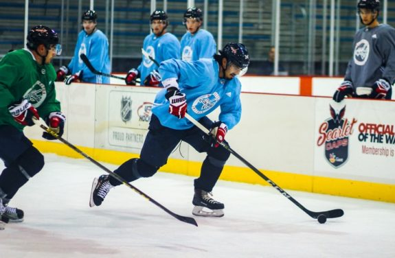 6a70e752b72 Siegenthaler explained that he and his teammates bonded over food during  their tenure at development camp. (Sammi Silber THW). Among the Capitals   prospects ...