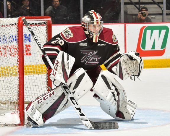 Hunter Jones of the Peterborough Petes