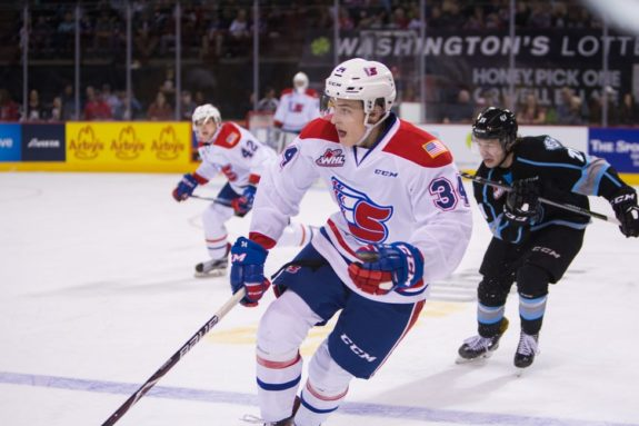 Adam Beckman of the Spokane Chiefs