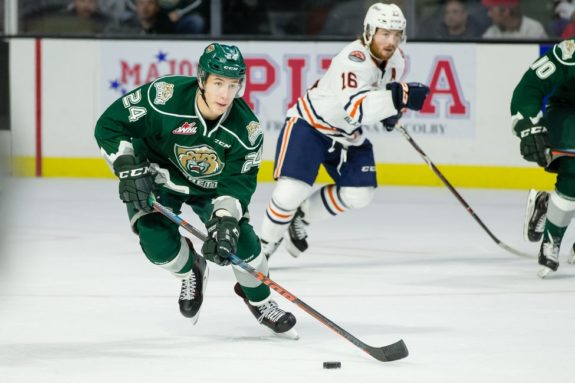Gianni Fairbrother of the Everett Silvertips