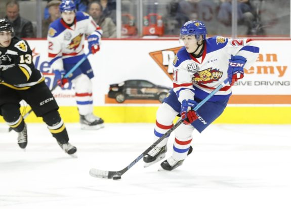 Jordan Spence of the Moncton Wildcats