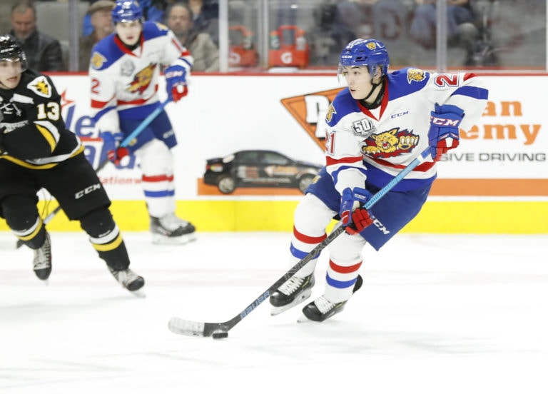 Jordan Spence of the Moncton Wildcats
