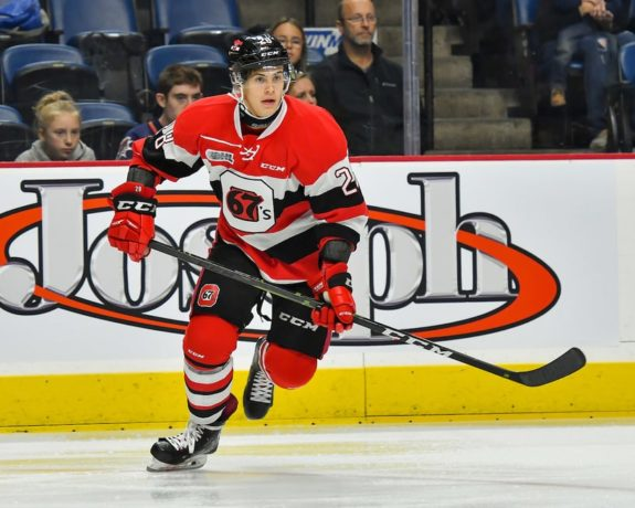 Nikita Okhotyuk of the Ottawa 67's