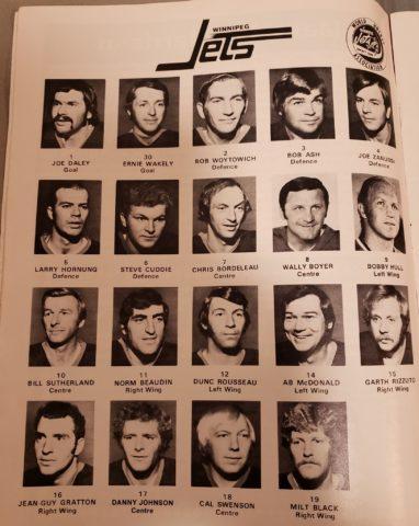 Winnipeg Jets' 1972-73 WHA roster