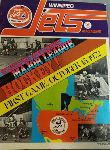 Winnipeg Jets WHA 1972 program