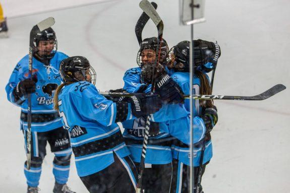 Buffalo Beauts goal celebration