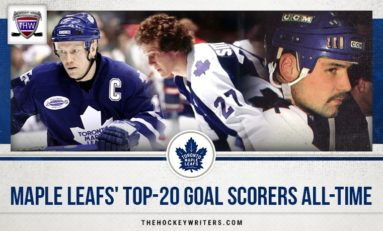 Toronto Maple Leafs' Top-20 Goal Scorers All-Time
