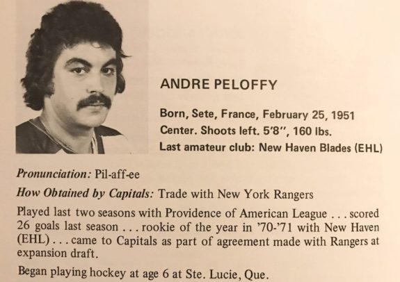 Andre Peloffy Washington Capitals