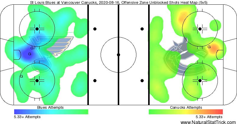 Canucks & Blues Heat Map