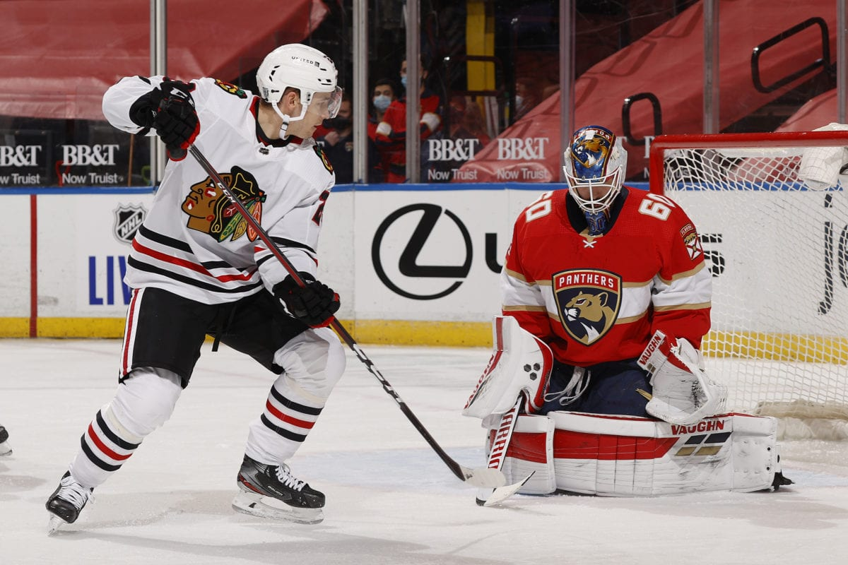 Chris Driedger Florida Panthers Philipp Kurashev Chicago Blackhawks