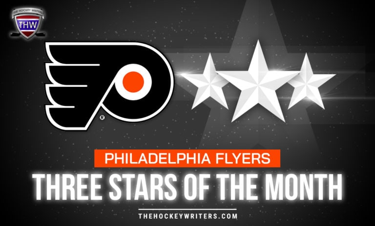 Three Stars of the Month Philadelphia Flyers