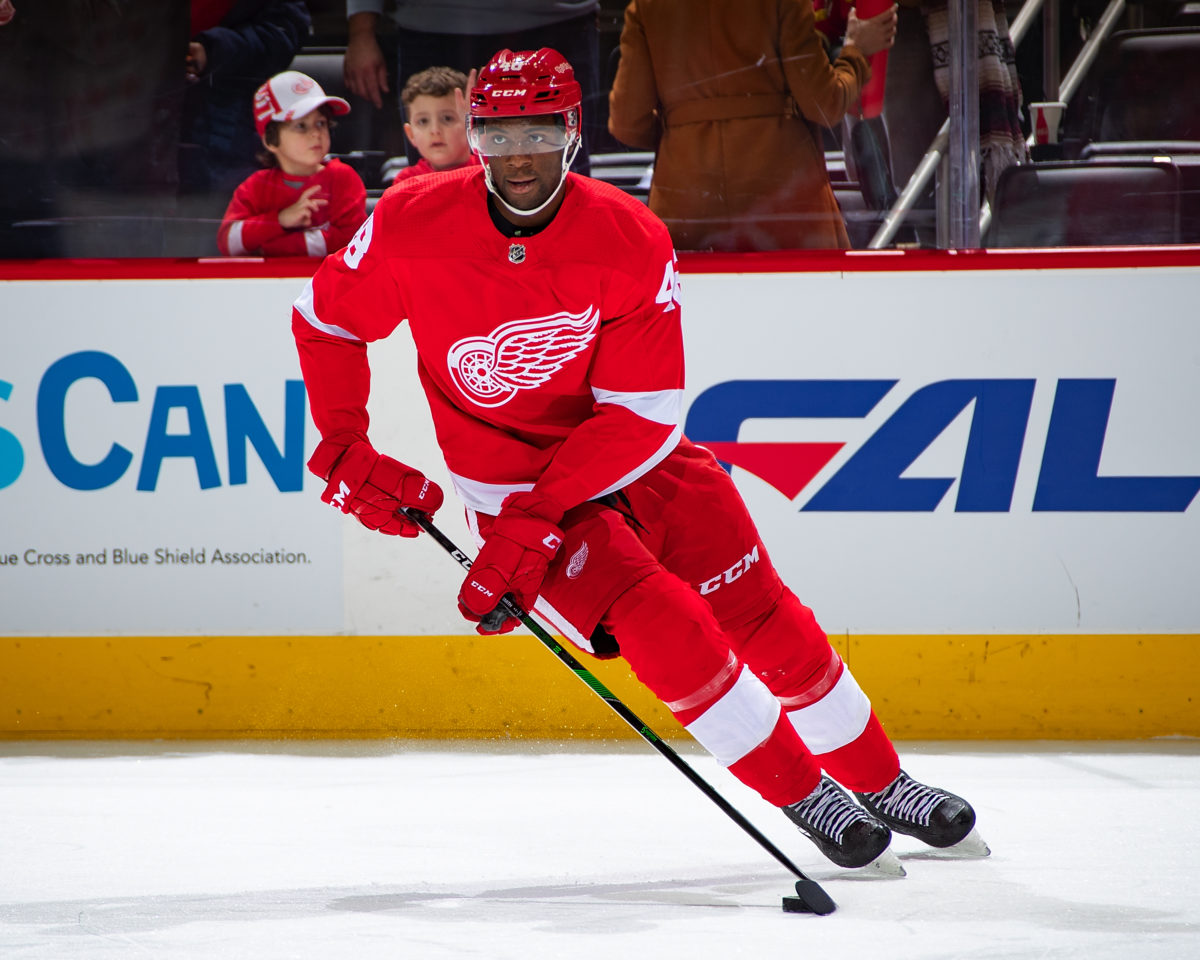 Givani Smith Detroit Red Wings