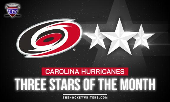 Three Stars of the Month Carolina Hurricanes