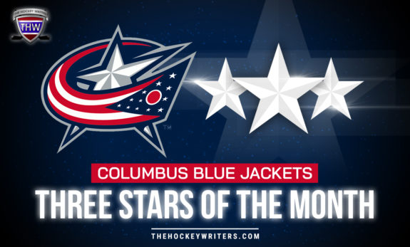 Three Stars of the Month Columbus Blue Jackets