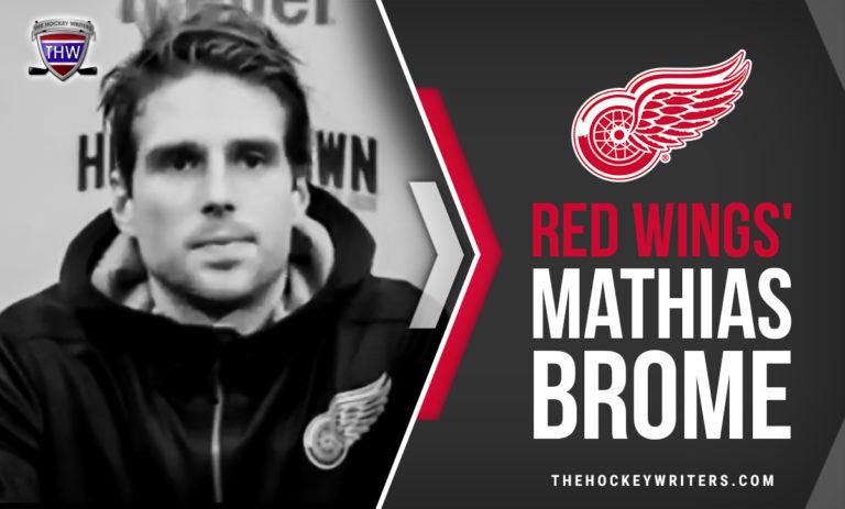 Detroit Red Wings' Mathias Brome