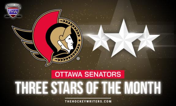 Three Stars of the Month Ottawa Senators