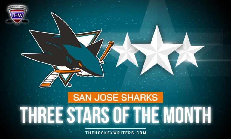 Three Stars of the Month San Jose Sharks