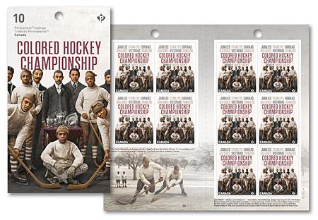 Black History Hockey stamp booklet Canada Post