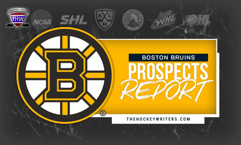 Boston Bruins Prospects Report