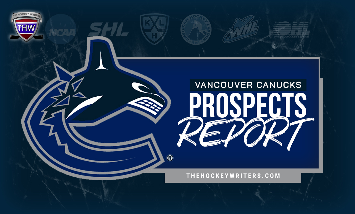 Canucks Prospects Report: Rathbone, Gadjovich, Jasek, Comets & More