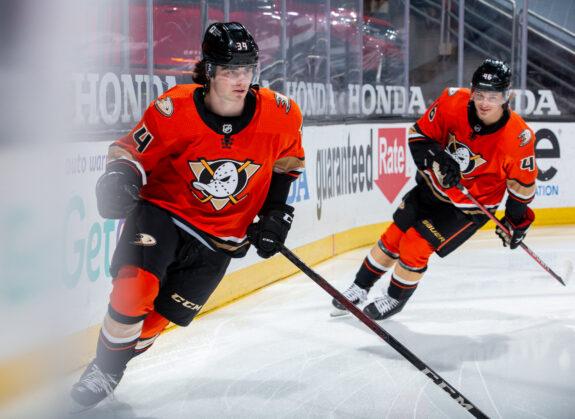 Jamie Drysdale Trevor Zegras Anaheim Ducks