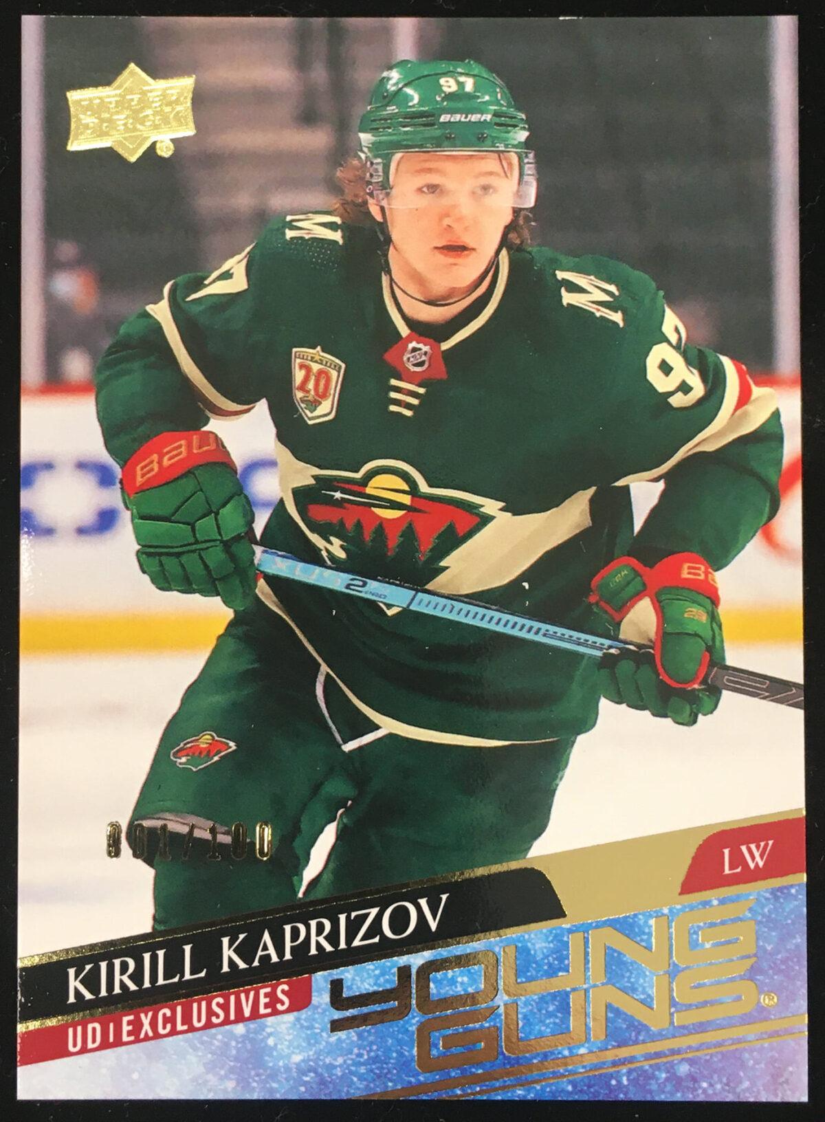 Kirill Kaprizov 2020-21 Upper Deck 2 Young Guns