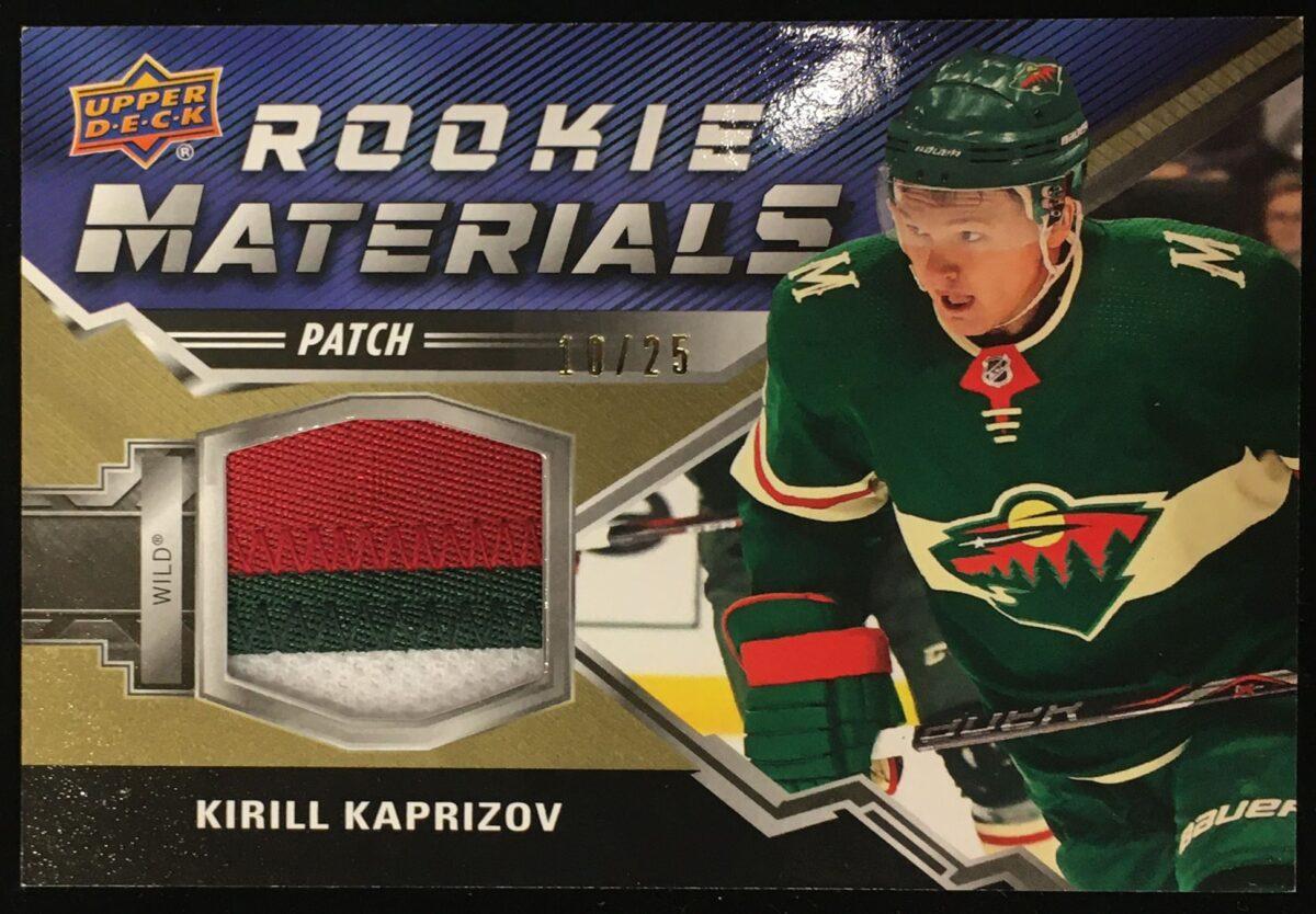 Kirill Kaptrizov 2020-21 Upper Deck 2 Rookie Materials