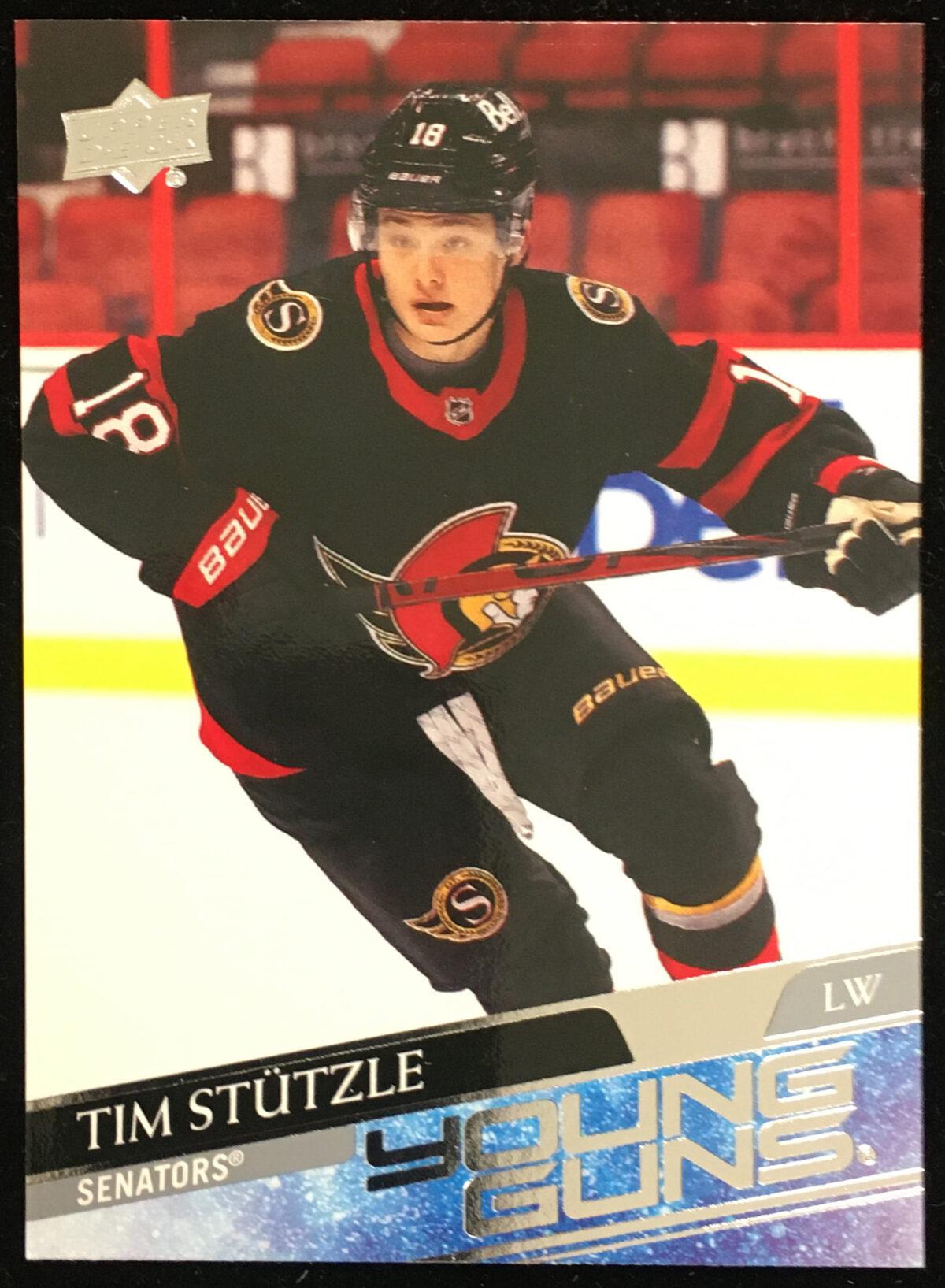 Tim Stutzle 2020-21 Upper Deck 2 Young Guns