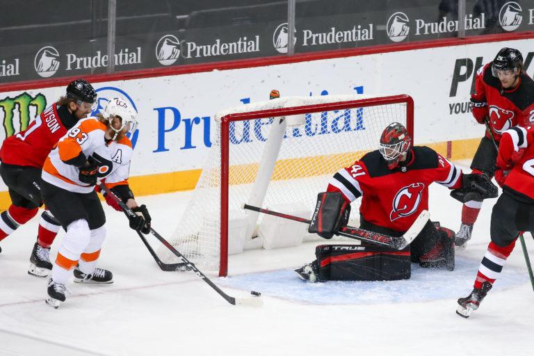 Jakub Voracek Flyers Scott Wedgewood Devils