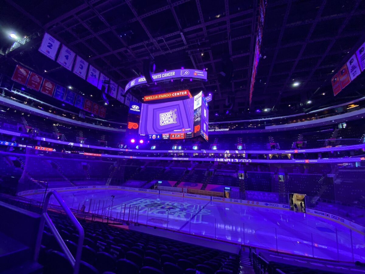 Philadelphia Flyers Hockey Fights Cancer Night