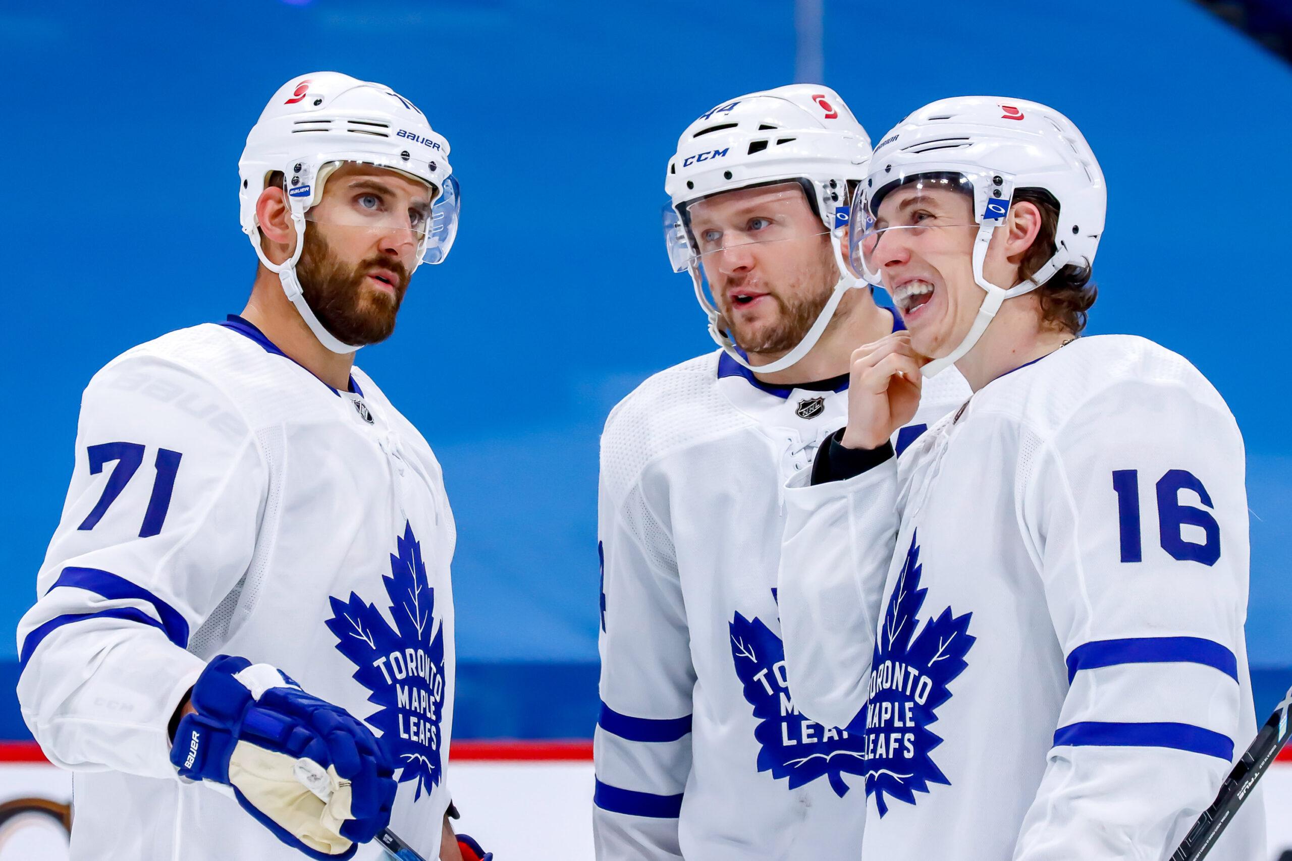 Nick Foligno Morgan Rielly Mitchell Marner Toronto Maple Leafs