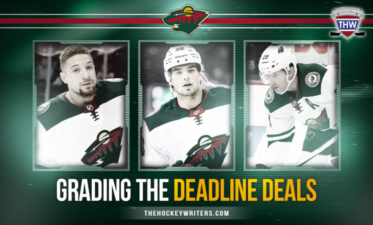 Grading Minnesota Wild Trade Deadline Deals for the Past Decade Fiala, Pominville and Stewart