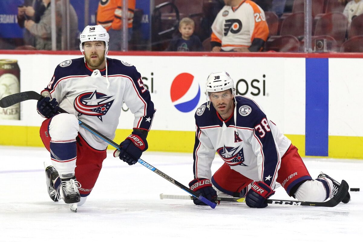 Boone Jenner David Savard Columbus Blue Jackets