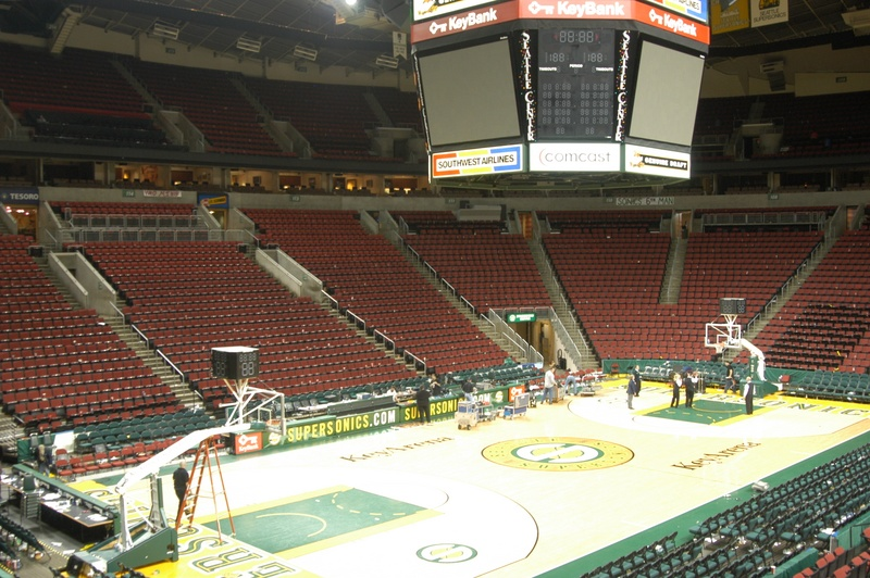 Key Arena basketball Seattle Kraken