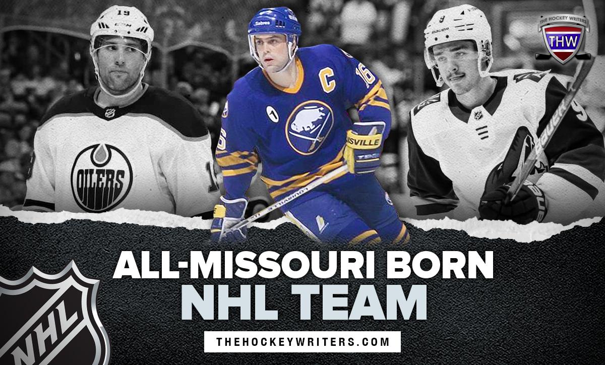 All-Missouri Born NHL team Pat LaFontaine, Pat Maroon, and Clayton Keller