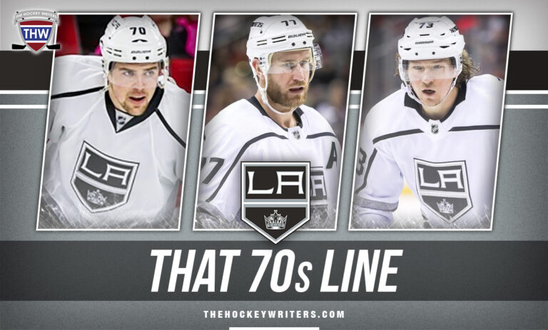 That 70s Line Jeff Carter, Tyler Toffoli, and Tanner Pearson Los Angeles Kings
