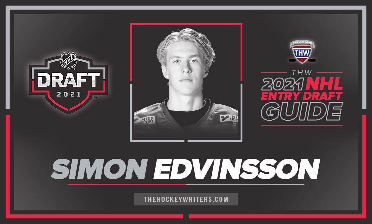 Simon Edvinsson Simon Edvinsson The Hockey Writers 2021 NHL Entry Draft Guide