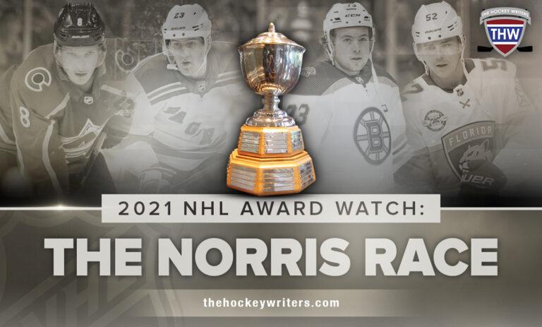2021 NHL Award Watch: The Norris Race; Makar, Fox, McAvoy & Weegar