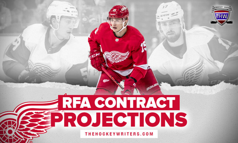 Tyler Bertuzzi, Filip Hronek, and Jakub Vrana Detroit Red Wings RFA Contract Projections