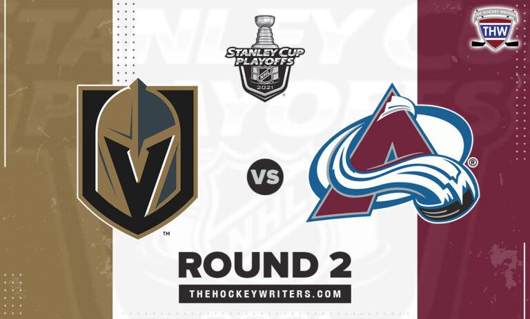 2021 Stanley Cup Playoffs Round 2 Colorado Avalanche Vegas Golden Knights