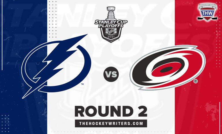 2021 Stanley Cup Round 2 Tampa Bay Lightning Carolina Hurricanes