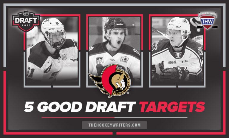 Ottawa Senators Chaz Lucius, Mason McTavish, Matt Coronato 5 good draft targets at 10th overal