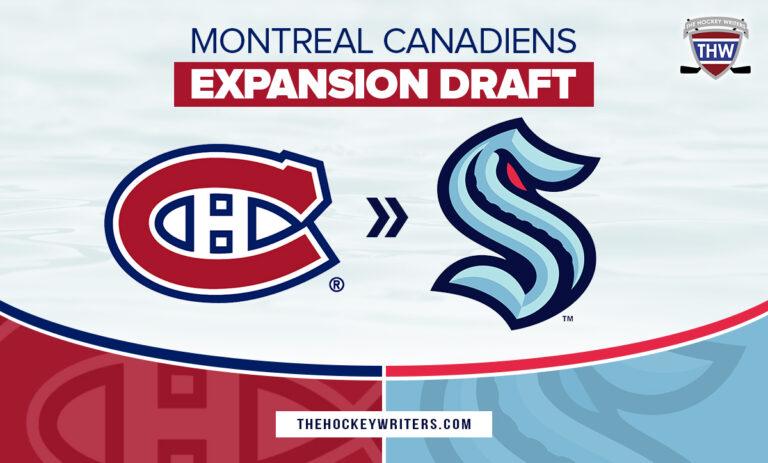 Seattle Kraken Expansion Draft Montreal Canadiens