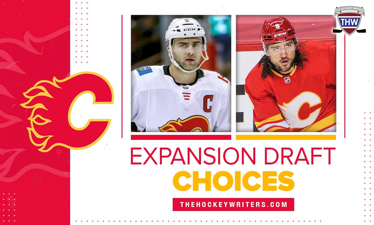 Mark Giordano and Chris Tanev Calgary Flames Expansion Draft Choices